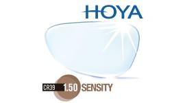 HOYA 1.50 Sensity - Fotochromowe (światłoczułe) z powłoką Hi-Vision Aqua