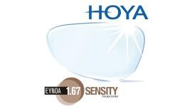 HOYA 1.67 Sensity - Fotochromowe z powłoką LONGLIFE
